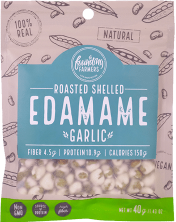 Founding Farmers Roasted Shelled Edamame Packaging